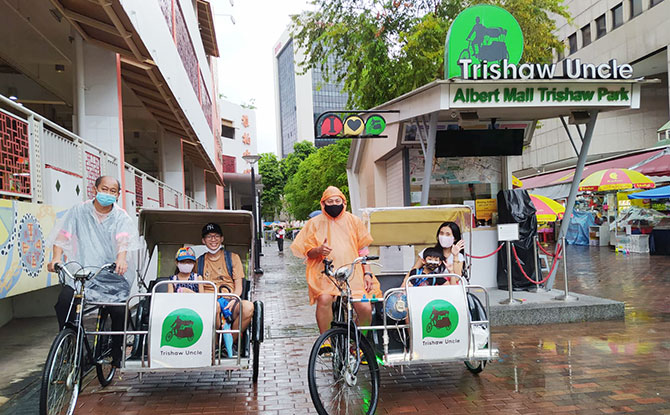 Trishaw Ride - Around World In Singapore In 8 Days