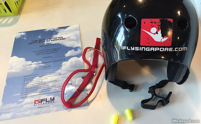 Skydiving Certificate at iFly Singapore