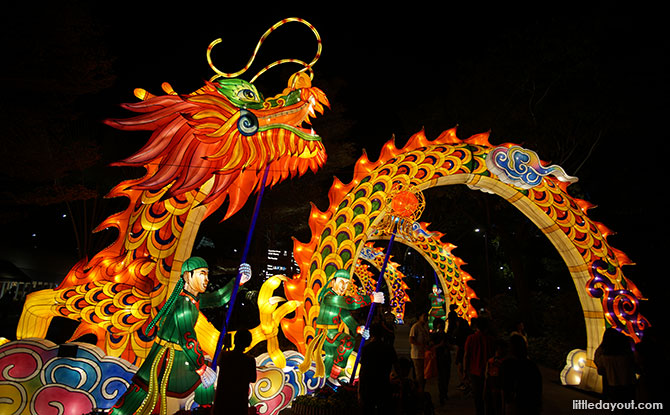 Dragon dance lantern set