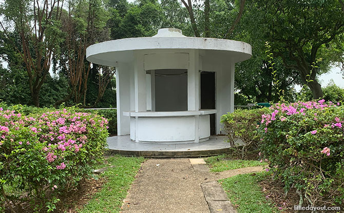 Old concession stand at Jurong Hill Park