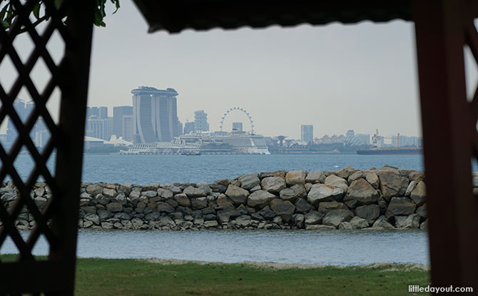View of Singapore from Kusu Island
