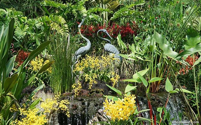 Crane Fountain, Singapore Botanic Gardens