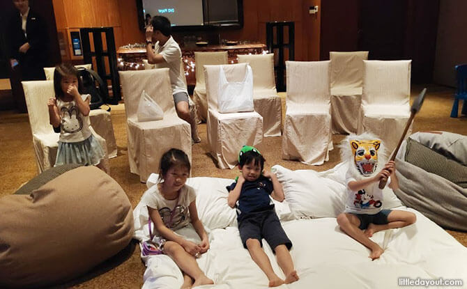 Family Movie Night during the Regent Singapore Staycation