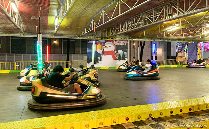 Bumper cars at The Great Christmas Village 2019
