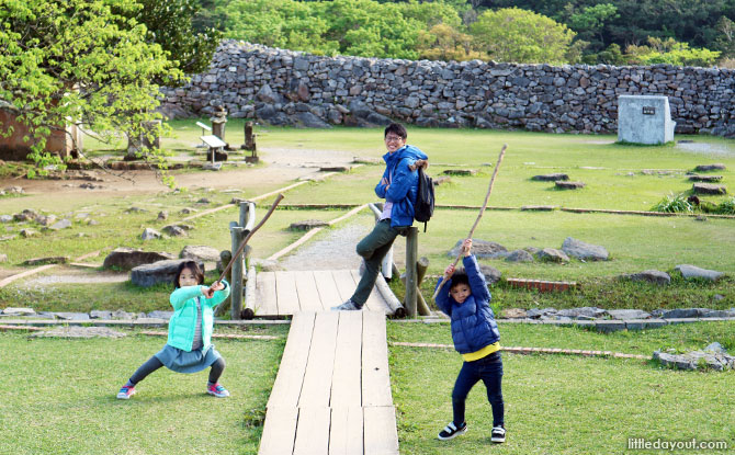 Fun at Nakijin Castle Ruins