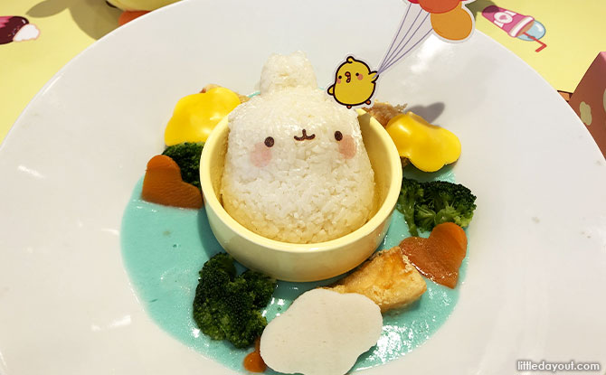 Up, up and away Happy Creamy Salmon Rice