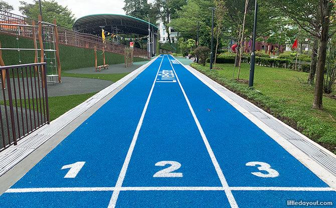 Sprinting track at Taman Jurong Park