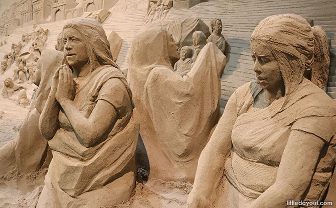 Sights of South Asia in Sand