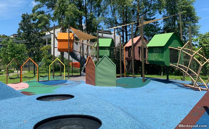 Yishun N8 Park Playground: Treehouse Playground with Houses on Stilts