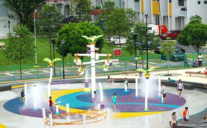 main water play area at Oasis Waterpark @ Nee Soon East