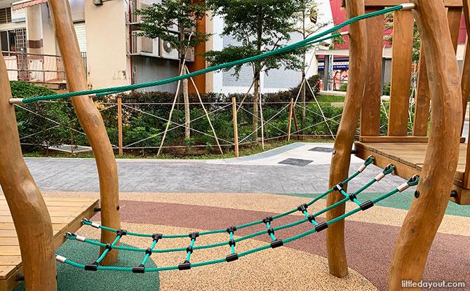 Cargo net bridge - Clementi Crest Playground