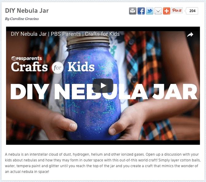 PBS Parents Nebula Jar