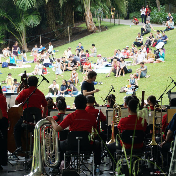 Attend an outdoor concert - Shaw Foundation Stage