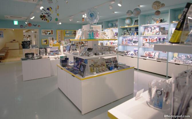 Store at TeNQ Space Museum, Tokyo, Japan