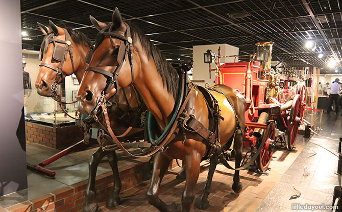 Firefighting horse carriage