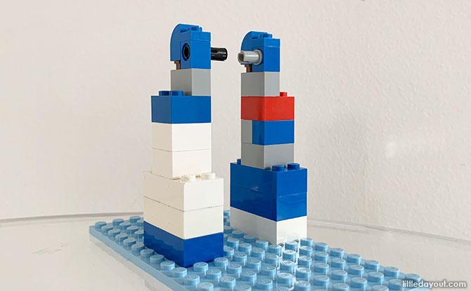 LEGO catapult build
