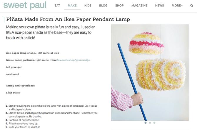 Sweet Paul - Piñata Idea