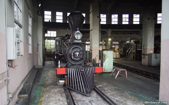 Steam train at the roundhouse