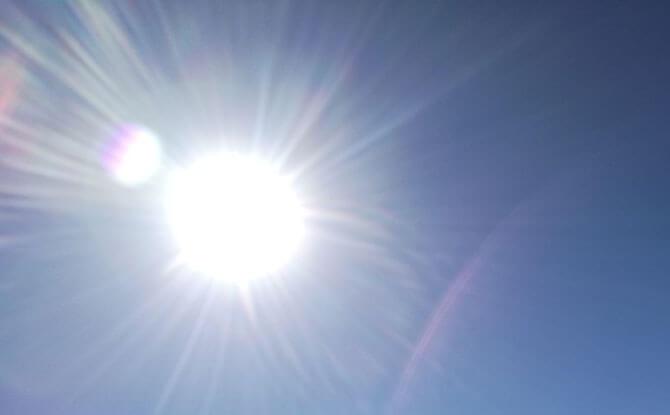 Harmful UV rays from the sun