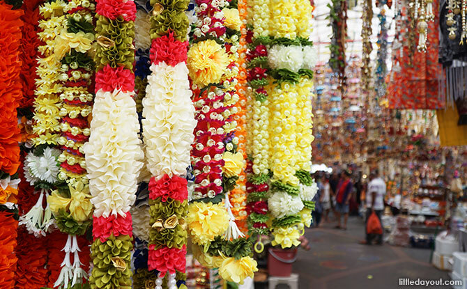 Colourful garlands at the Festival Village.