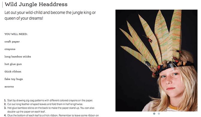 Jungle Headdress Craft
