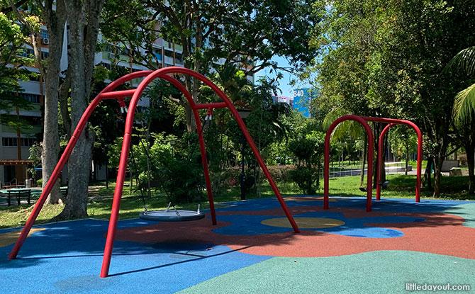 Swings at the Yishun Park N8