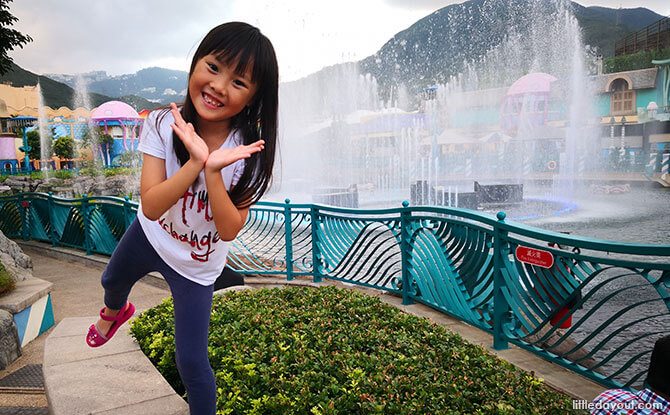 Ocean Park's fountains