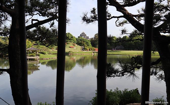 Views of the castle from Okayama Korakuen Garden