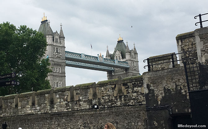 Tower Bridge, viewed from within the Tower of London