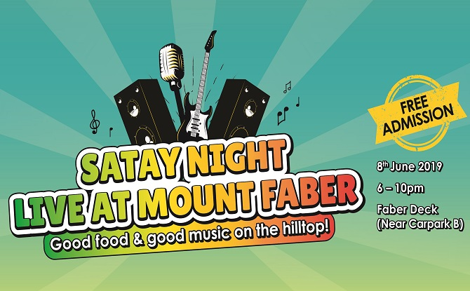 1FG Satay Night LIVE at Mount Faber Poster 1