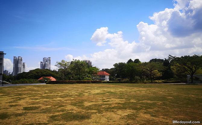 huge sprawling green space