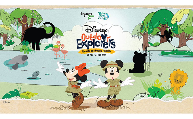 Disney Outdoor Explorers: Search For Hidden Mickeys & Doodle Animals At Singapore Zoo, River Safari During The Year-End School Holidays 2020