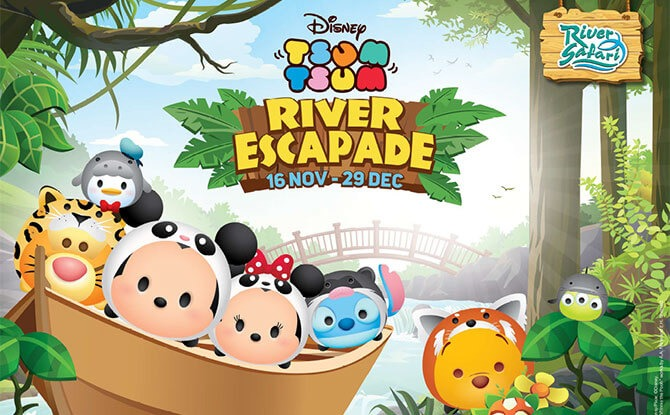 Disney Tsum Tsum River Escapade at River Safari, Year-end School Holidays 2019