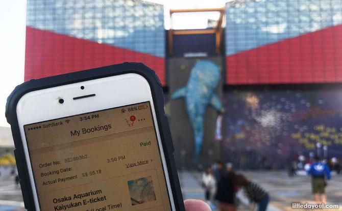 Klook tickets at Osaka Aquarium.
