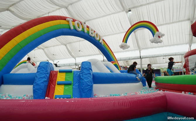 My Little Pony and Monopoly-themed mega ball pit-bouncy castle