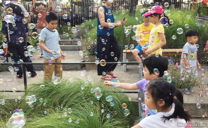 Playing with bubbles at Khao Yai