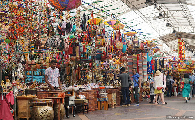 Stalls along Campbell Lane, next to Indian Heritage Centre