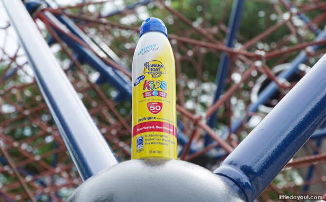 Spray on Banana Boat sunscreen