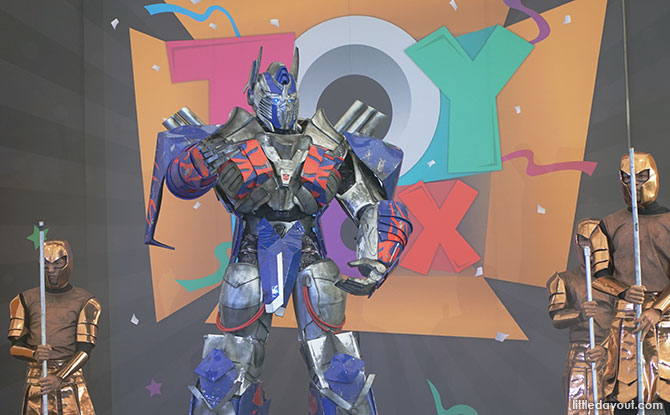 Transformers Live show, Toybox Sentosa
