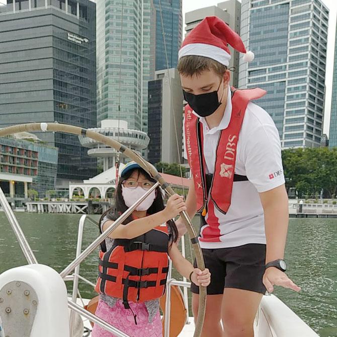 Sailing at Marina Bay