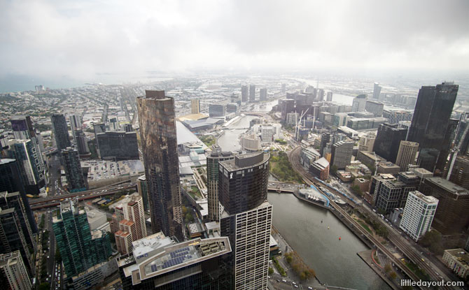 View of Melbourne and the Yarra River.