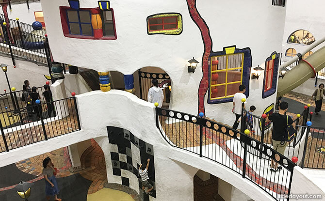 Explore the interconnecting passageways and rooms at Kids Town