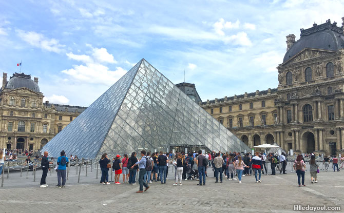 Visiting the Louvre, Paris