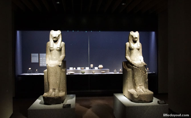 Egyptian exhibit at the Asian Gallery, Tokyo National Museum