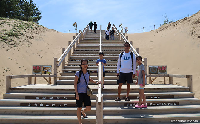 Visiting the Tottori Sand Dunes with Kids
