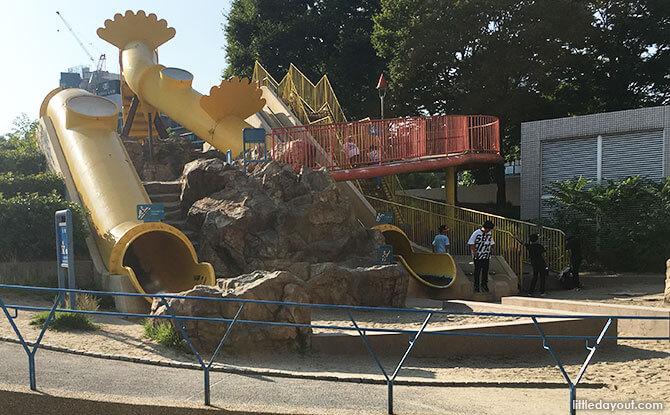 Outdoor playground behind Kids Plaza Osaka