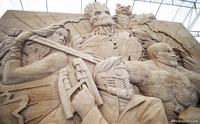 Guardians of the Galaxy Sand Sculpture
