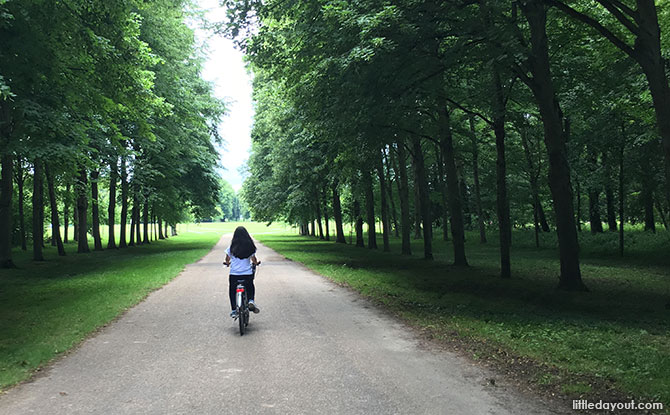Cycling at Versailles