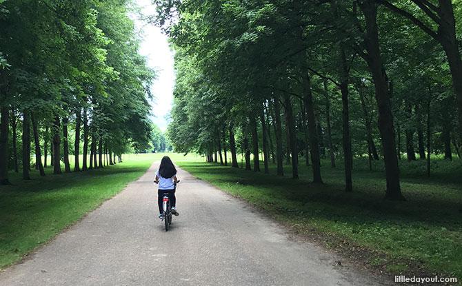 Cycling at Versailles