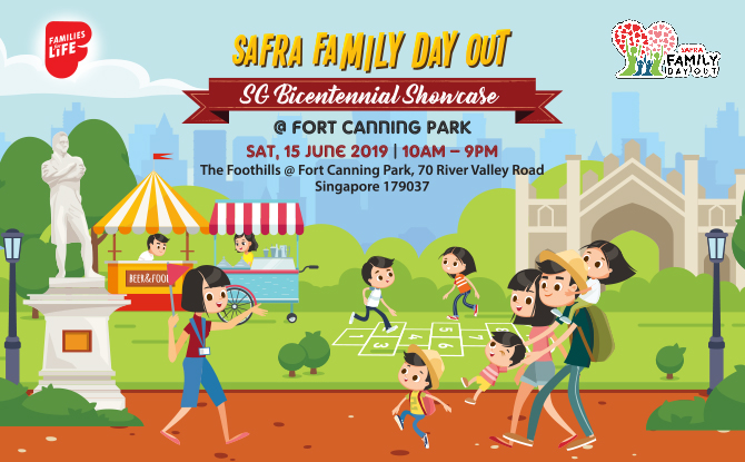 SAFRA Family Day Out: SG Bicentennial Showcase @ Fort Canning Park